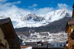 Peio - Val di Единственн, Dolomiti di Brenta Стоковое Фото