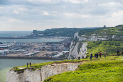 People at White Cliffs Royalty Free Stock Photos
