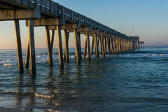 Peir at Panama City Beach, Florida at Sunrise Royalty Free Stock Photo
