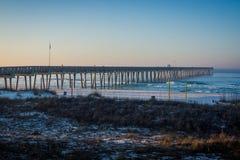 Peir at Panama City Beach, Florida at Sunrise Stock Photo