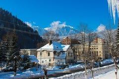 Peisaj de Iarna in Azuga - Winter-Landschaft in Azuga stockfotografie