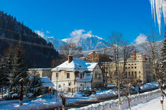 Peisaj de Iarna in Azuga - Winter Scenery in Azuga Stock Photography
