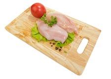 Peito de frango cru Imagens de Stock Royalty Free