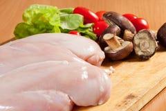 Peito de frango cru Imagem de Stock