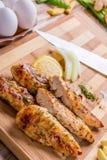 peito de frango grelhado da carne branca, tiras da galinha Imagem de Stock