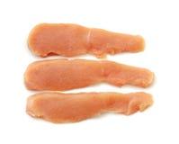 Peito de galinha cortado imagem de stock