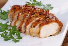 Peito de galinha cozido fotografia de stock