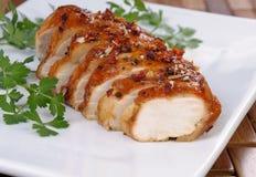 Peito de galinha cozido fotografia de stock royalty free