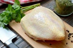 Peito de galinha cru Foto de Stock Royalty Free