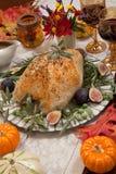Peito de turquia Roasted inteiro do estilo mediterrâneo Imagem de Stock Royalty Free