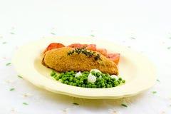 Peito e vegetais de galinha Foto de Stock