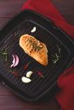 Peito grelhado da galinha Foto de Stock