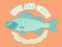 Peixe com batatas fritas 4 Ilustração do Vetor