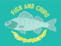 Peixe com batatas fritas 6 Ilustração Stock