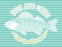Peixe com batatas fritas 7 Ilustração Royalty Free