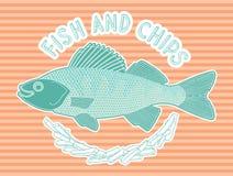 Peixe com batatas fritas 8 Ilustração Stock