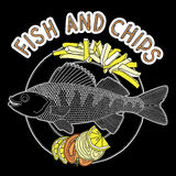 Peixe com batatas fritas 4 Ilustração Stock