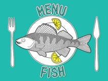 Peixe com batatas fritas 3 Ilustração do Vetor