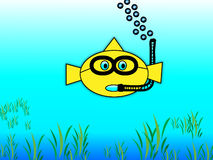 Peixe dourado Snorkeling Imagens de Stock