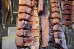 Peixe-gato fumado na loja dos peixes no Samara Fotos de Stock Royalty Free