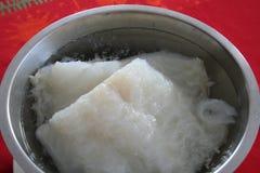 Peixe seco - prato sueco de Lutfisk- para o Natal Foto de Stock Royalty Free