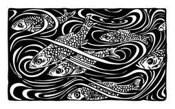 Peixes ilustração stock
