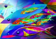 Peixes abstratos Fotografia de Stock Royalty Free