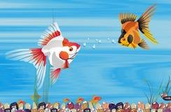 Peixes, amores, Ilustração Stock