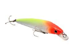 Peixes artificiais vermelhos e verdes Fotos de Stock