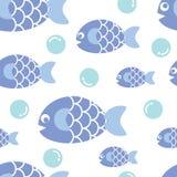 Peixes azuis Imagens de Stock Royalty Free