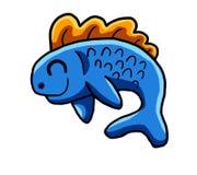 Peixes azuis e alaranjados felizes Foto de Stock Royalty Free