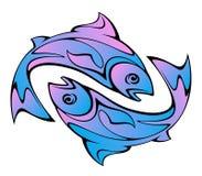 Peixes azuis torcidos imagens de stock royalty free