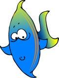Peixes azuis/verdes ilustração stock
