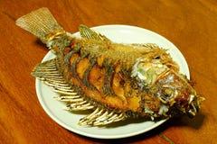 peixes Batata frita-fritados do tilapia Fotografia de Stock Royalty Free