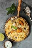Peixes Biryani feito com arroz basmati Fotografia de Stock Royalty Free