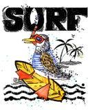 Peixes bonitos dos desenhos animados Texto tirado mão do vintage da ressaca ilustração da aquarela do animal de mar fundo das fér Foto de Stock Royalty Free