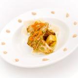 Peixes brancos e abacaxi Fotografia de Stock