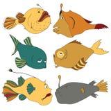 Peixes brilhantes e à moda das águas profundas Foto de Stock Royalty Free