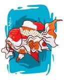 Peixes calmos bonitos do aquário Fotografia de Stock
