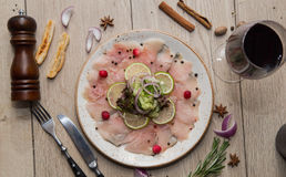 Peixes Carpaccio Foto de Stock Royalty Free