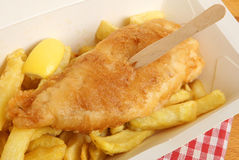Peixes & Chips Takeaway Meal Imagem de Stock