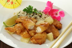Peixes com arroz Imagens de Stock
