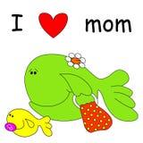 Peixes com mamã Fotografia de Stock