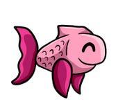 Peixes cor-de-rosa felizes adoráveis imagem de stock royalty free