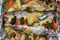 Peixes cozidos Fotos de Stock