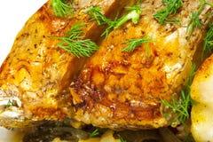 Peixes cozidos, close-up Fotos de Stock