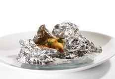 Peixes cozidos na folha Fotos de Stock