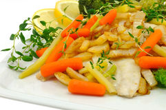 Peixes cozinhados Imagem de Stock Royalty Free