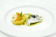 Peixes cozinhados com ervas Imagens de Stock