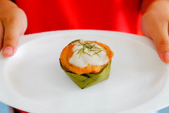 Peixes cozinhados com pasta do caril Imagem de Stock Royalty Free